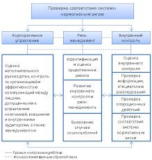 Внутренний контроль организации и вопросы оценки его эффективности Взаимодействие компетенций полномочий контрольных подразделений организации