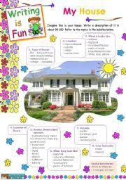 english worksheet my dream house espanol english  english worksheets writing is fun my house