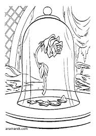 Beauty And The Beast Coloring Pages To Print Printable Free Moonoon