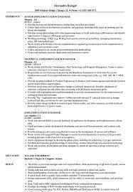 Implementation Engineer Resume Samples Velvet Jobs