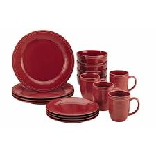 brown dinnerware sets.  Brown Rachael Ray Cucina Dinnerware 16Piece Stoneware Set In  Cranberry Red For Brown Sets