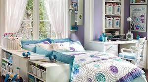 ... able to paint the walls of your dorm this pretty purple, you can  embrace the fabulous organization and design elements in this small room  from PB Teen.