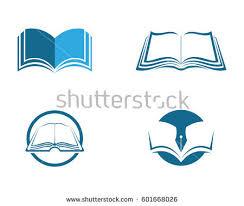 book logo template vector ilration design