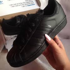 adidas shoes superstar black. shoes: adidas, sneakers, black, adidas superstars, low top sneakers - wheretoget shoes superstar black r