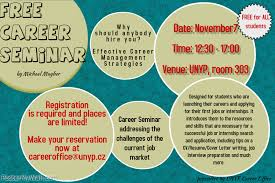 seminar invitation career office invitation to a free career seminar with michael mayher