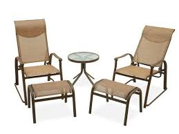 comfortable patio chairs aluminum chair: hideaway sling  pc seating group with glass top end table