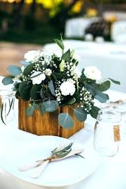 wooden flower boxes for centerpieces b17539 top white and greenery wedding centerpieces for simple chic greenery