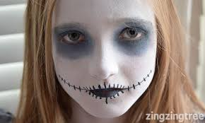ghost face paint child