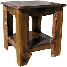 end table. Rustic End Table D