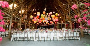 Cluster Of White Cream And Nude Coloured Paper Lanterns Over The Paper Lanterns Wedding