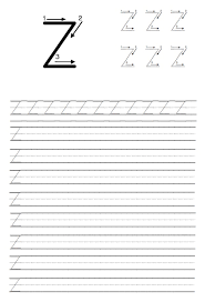 Uppercase Letter Z Trace Line Worksheet - Preschool Crafts