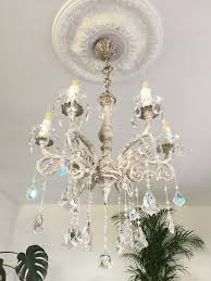 Chandelier Luna Light Fixture Chandelier Shabby Chic Lighting