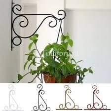 wall light iron hook bracket garden hanging basket planter lantern
