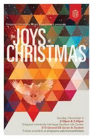 Christmas Concert Poster Simpson University Offers Two Christmas Concert Performances News