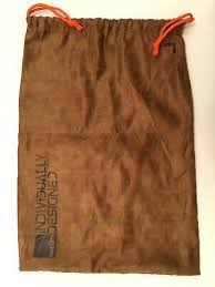 <b>Authentic</b> Nike ID <b>Soft</b> Suede Brown Dust Scuff Protector Shoe Bag ...