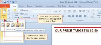 How To Link Excel Data To Powerpoint Chart Using Charts With Microsoft Word And Microsoft Powerpoint