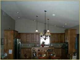 best overhead kitchen lighting vaulted ceiling white wood