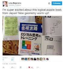 the puzzles are known as area maze or menseki meiro puzzles they are an original creation of naoki inaba a quick google search leads to an article