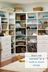 custom walk in closets.  Closets What To Do About Those Pesky Corners In A Walk Closet Design How Big  Should They Be In This Article Learn And How Avoid Other Common  And Custom Walk Closets