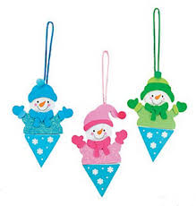 snowman craft kit for girl scout winter meetings and class winter parties