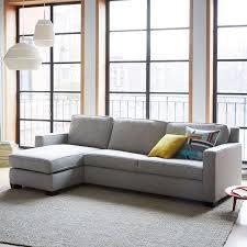 wonderful sofa sleeper with storage with henry 2 piece pull down sleeper sectional w storage west elm