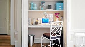 creative home offices. closet becomes office creative home offices