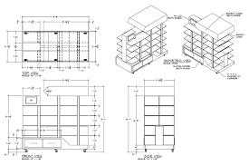 furniture design drawings. display shop drawings furniture design