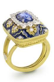 Stambolian Design Blue Sapphire Center Strombolian Classic Gemstone Ring Item