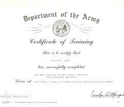 Promotion Certificate Template Combat Lifesaver Certifica Army Of Training Ideas Award S Us Warrant