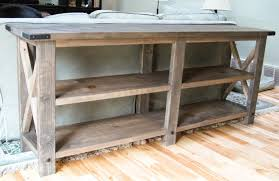 diy sofa table. DIY Rustic X Console By The Friendly Home Diy Sofa Table