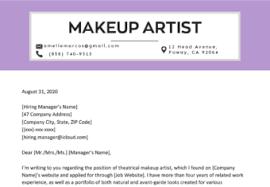 makeup artist resume sle writing