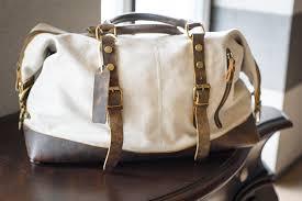 vt canvas retro leather duffle bag