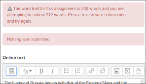in english tip essay writing in moodle word limit on online text