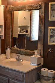wood mirror frame. Beautiful Concept Wood Framed Bathroom Mirrors Keep On DIY Barn Mirror I D Love To Re Trim And Frame Intended For House Decor