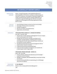 Hr Resume Examples Generalist Formidable Human Resource Resume Sample On Hr Generalist Objective 23