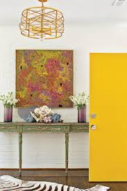 furniture for a foyer. North Carolina Rancher Foyer With Yellow Door Furniture For A Foyer O