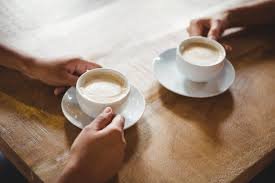two coffee cups with coffee. Contemporary Coffee Close Up Of Two Cups Coffee Premium Photo In Two Coffee Cups With X
