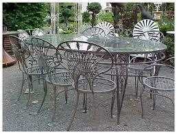 salterini wrought iron furniture. Salterini Wrought Iron Riviera Patio Set Extra Large Table 8 Magic Of Furniture E