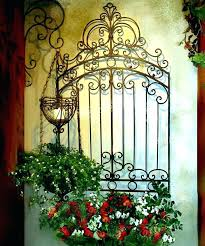wrought iron and wood wall decor garden wall decor wrought iron garden gate wall grille panel wrought iron and wood wall decor