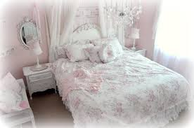 image of pink and blue shabby chic crib bedding