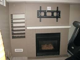 mounting plasma tv brick fireplace living room above interior exterior ideal hanging ex