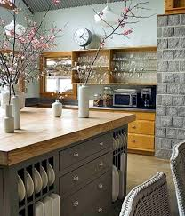 kitchen countertop made of wood set up the kitchen with natural materials
