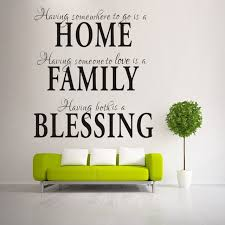 Small Picture Aliexpresscom Buy HOME FAMILY BLESSING home decor creative wall
