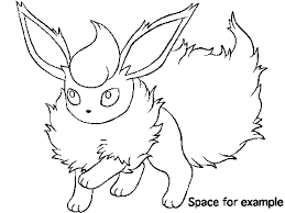 Small Picture Flareon Coloring Page Free Download