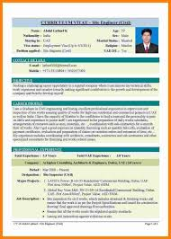 9 Curriculum Vitae Example Engineering Theorynpractice