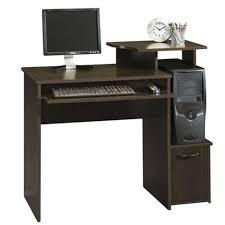 sauder beginnings cinnamon cherry desk with storage