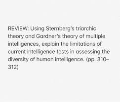 Sternberg Intelligence Solved Review Using Sternbergs Triarchic Theory And Gar