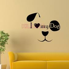 i love dogs wallpaper. Unique Love Stickers I Love My Dog Face Vinyl Wall Sticker Wallpaper For Kids Living  Room Mural Decal Art Home Decor House Decorationin From  Inside Dogs P