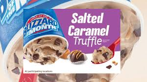 dairy queen canada blizzard of the month for march 2017 is salted caramel truffle