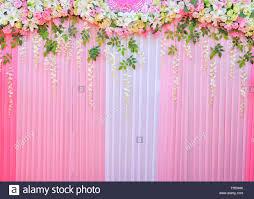 Wedding Photo Background Backdrop Wedding Background Romantic Flower And Green Leaf